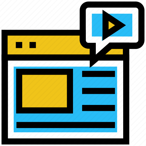 education, education site, learning, media, play, video play icon