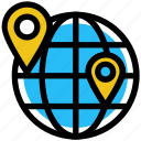 earth, education, globe, location, school locations, world icon