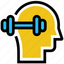 burble, education, fitness, head, mind icon