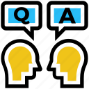 answer, class, education, question, school, students, study icon