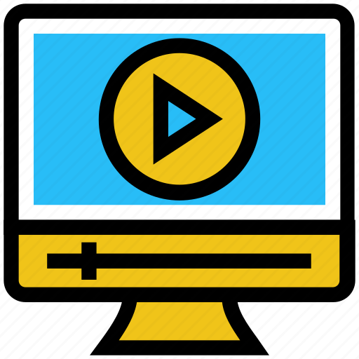 education, lcd, learning, media play, online education, video icon