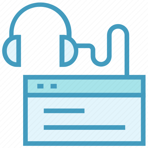 education, headphone, learning, online education, study, web page icon