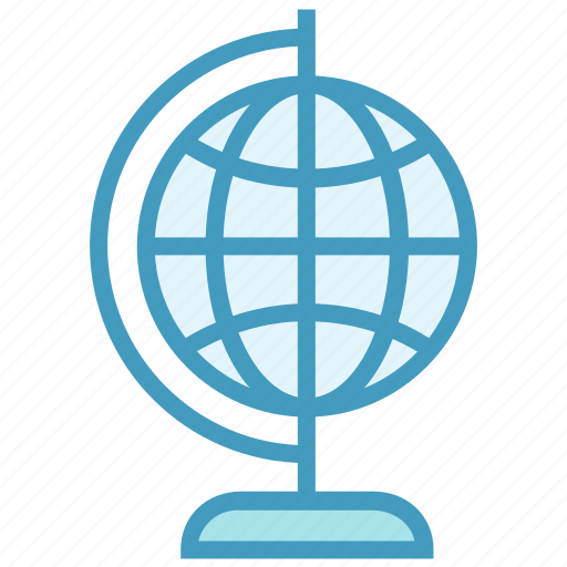 earth, education, geography, geology, globe, map icon