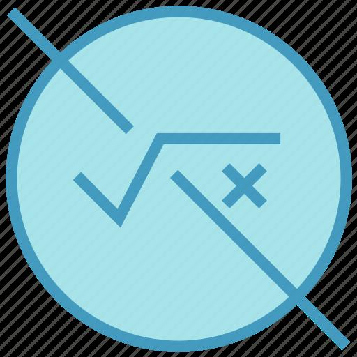 circle, education, equation, formula, math, root, school icon