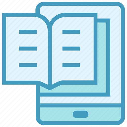 book, education, learning, mobile, online education, phone, study icon