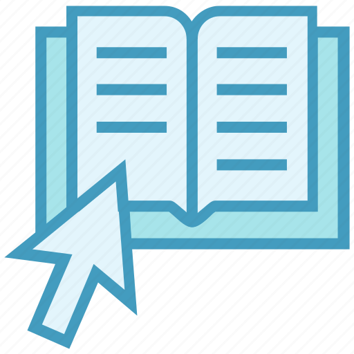 arrow, book, education, learn, online education, point, study icon