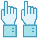 education, hands, lecture time, raise hands, school, students icon