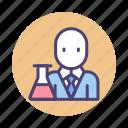 lab tech, chemist, professor, scientist icon