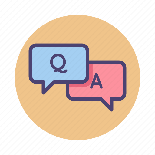 Answer, q&a, question icon