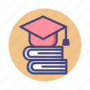 degree, education, graduate, graduation, scholarship icon