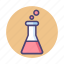 chemical, experiment, flask, lab, science, test icon