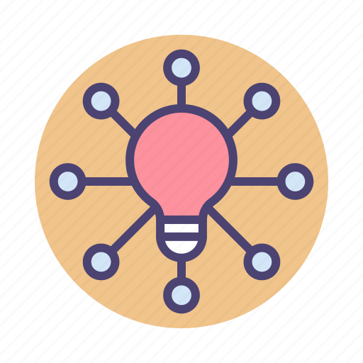 creativity, idea, light bulb icon