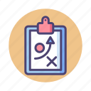 action plan, plan, strategy icon