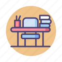 desk, study, table icon