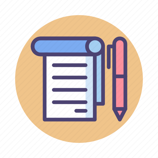 Note, notepad, notes, taking notes icon - Download on Iconfinder