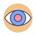 eye, mission, objective, vision icon