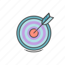 achieve, achievement, goal, target icon