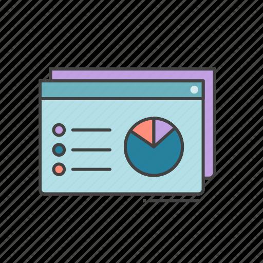 analysis, data, diagram, education, online studies, statstics icon