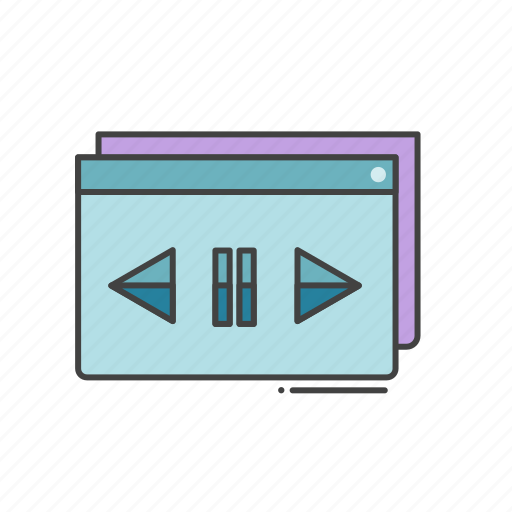 controllers, pause, play, tutorial, video icon