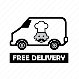 delivery, food, free, fresh, healthy, meals, online order icon