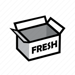 box, delivery, food, fresh, healthy, online, order icon