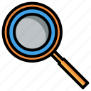 search, magnifier, magnifying glass, online learning