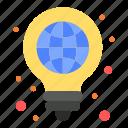 bulb, globe, idea, light, pen
