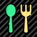 spoon, fork, food, breakfast