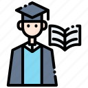 academy, book, education, learning, online, reading, school icon