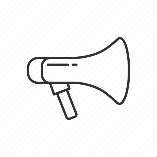 announcement, megaphone, message, talk icon