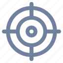 aim, cross-hairs, focus, marketing, precision, target icon