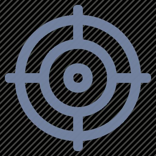 aim, cross-hairs, focus, marketing, precision, target icon