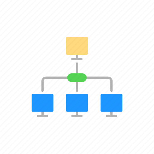 connection, group, network, system icon