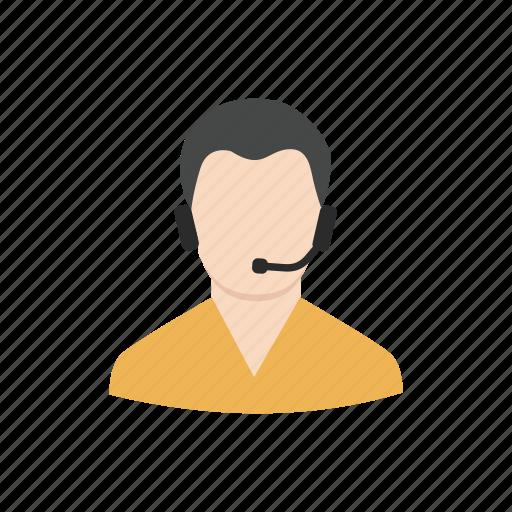 agent, callcenter, man, service center icon