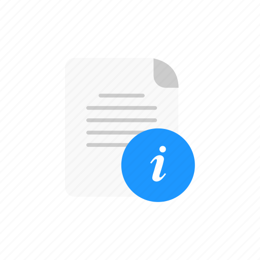 data, document, information, notice icon