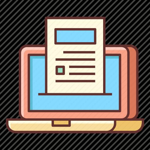 Blogging, article, blog, blog post, writing icon - Download on Iconfinder