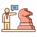 business, chess, knight, plan, planning, strategy icon