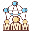 communities, networks, community, connection, networking, social, social media icon