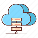 cloud, cloud database, cloud hosting, database, hosting, hosting service, services icon