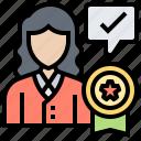 confidence, credibility, customer, reputation, royalty icon