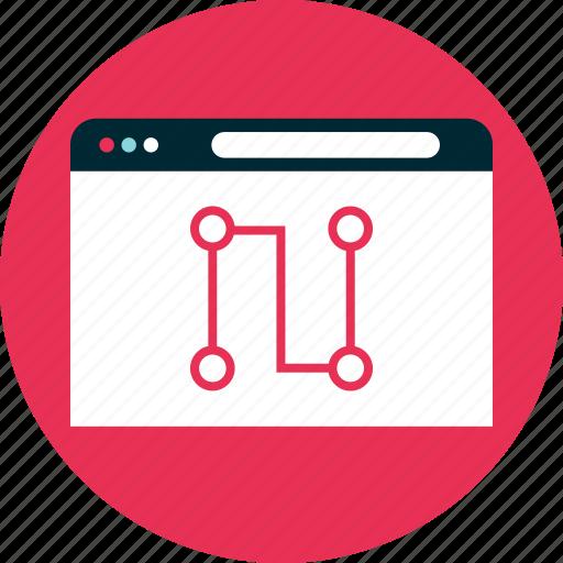 analytics, data, online icon