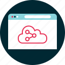 analyze, cloud, data, website icon