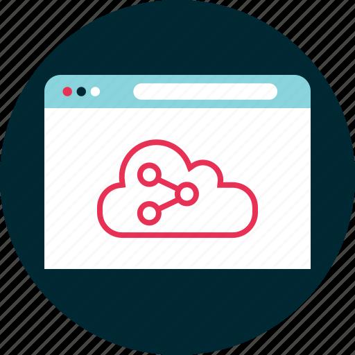 analyze, cloud, data, website icon