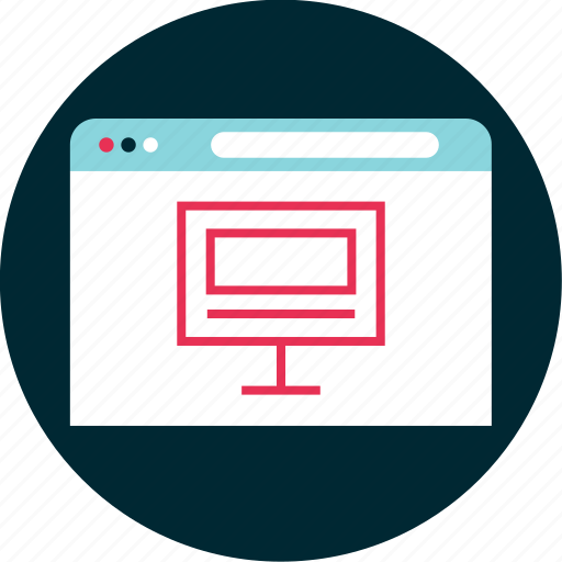 computer, monitor, online, site icon