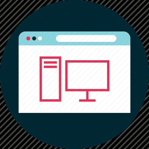 com, computer, desktop icon