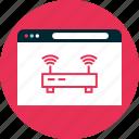antenna, double, router icon