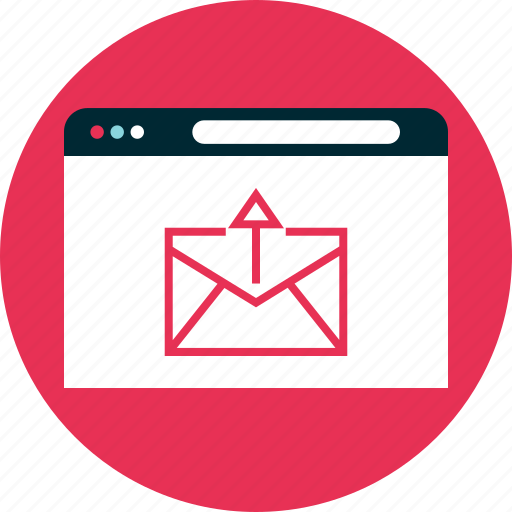 email, mail, online, send icon