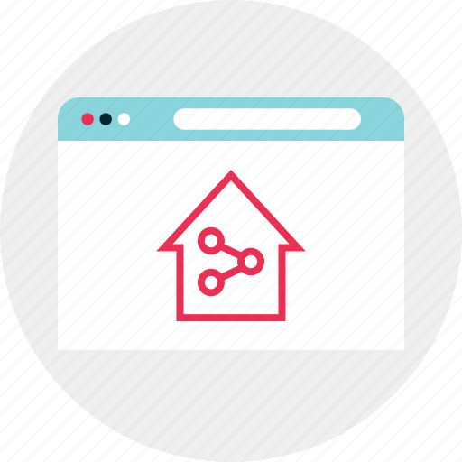 connect, home, house icon