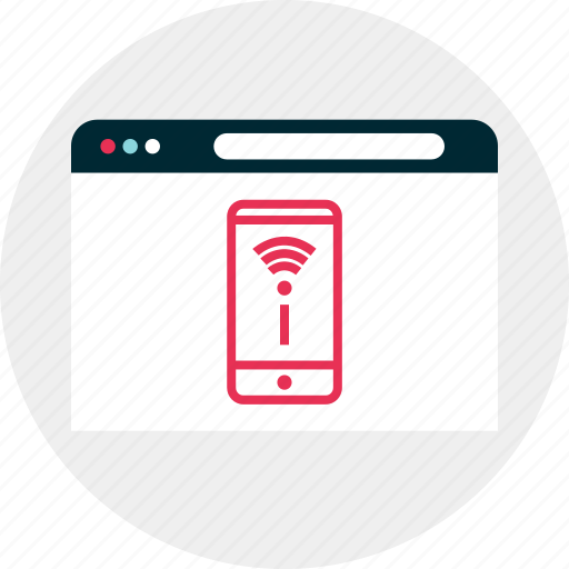 cell, connect, website, wifi icon