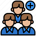 add, avatar, people, profile, social
